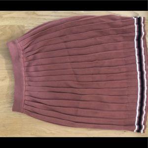 J.O.A. Pink Pleated Skirt